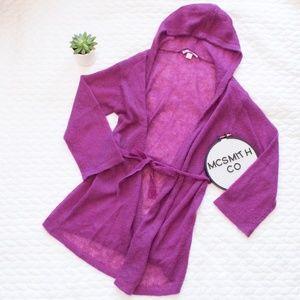 Victoria's Secret | Magenta Hooded Wrap Sweater